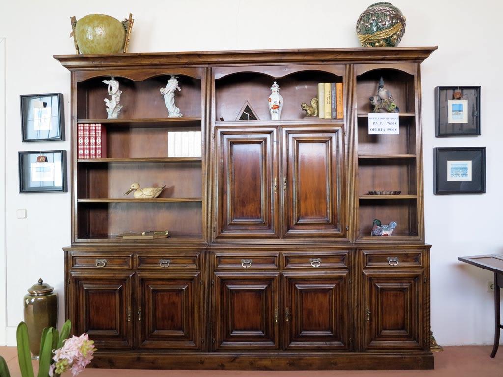 Mueble sal n nogal muebles arribas for Mueble salon nogal