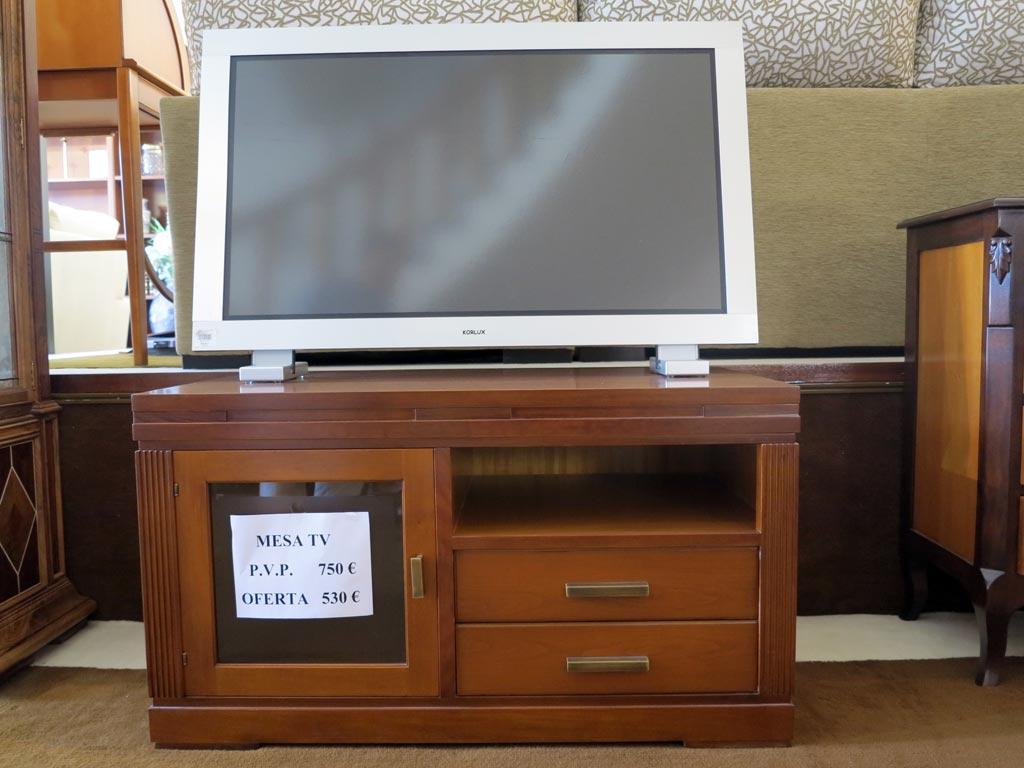 Mueble tv madera cerezo materiales de construcci n para for Muebles de madera para tv