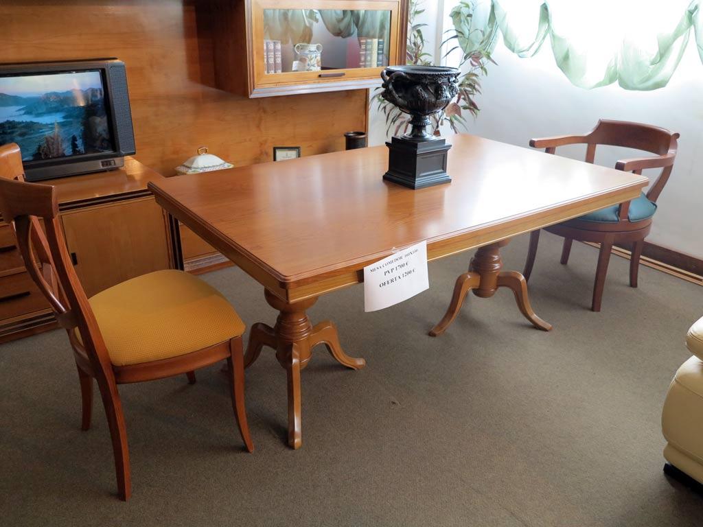 Mesa comedor rectangular muebles arribas for Mesa comedor rectangular