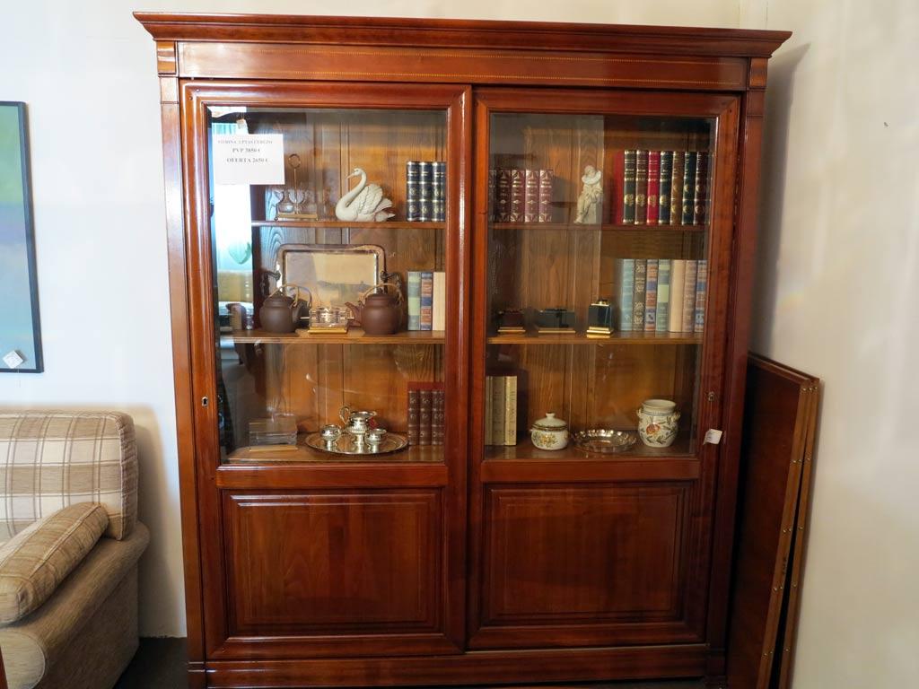 Vitrina puertas correderas muebles arribas - Muebles salon madera maciza ...