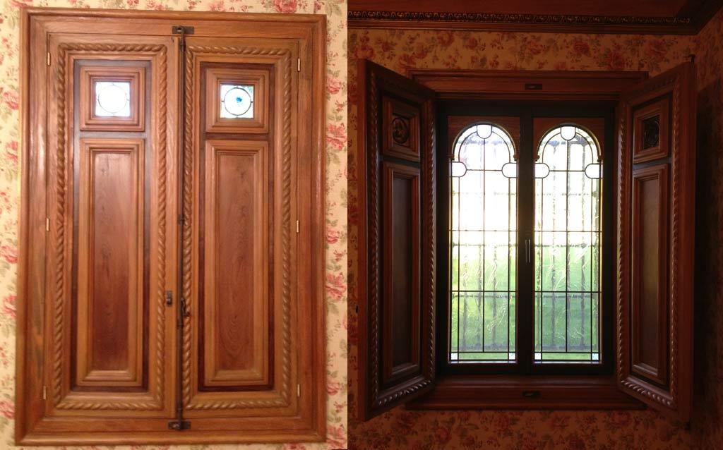 Ventana madera maciza muebles arribas for Muebles madera maciza outlet