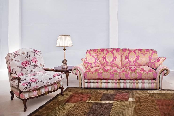 Sof y sill n muebles arribas - Sofas tapizados en tela ...