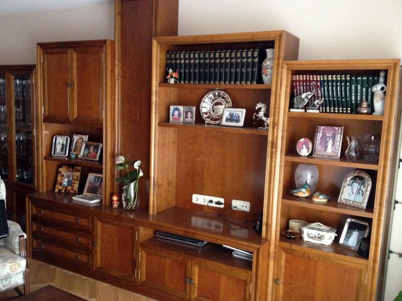 Mueble para sal n en cerezo muebles arribas for Mueble a medida