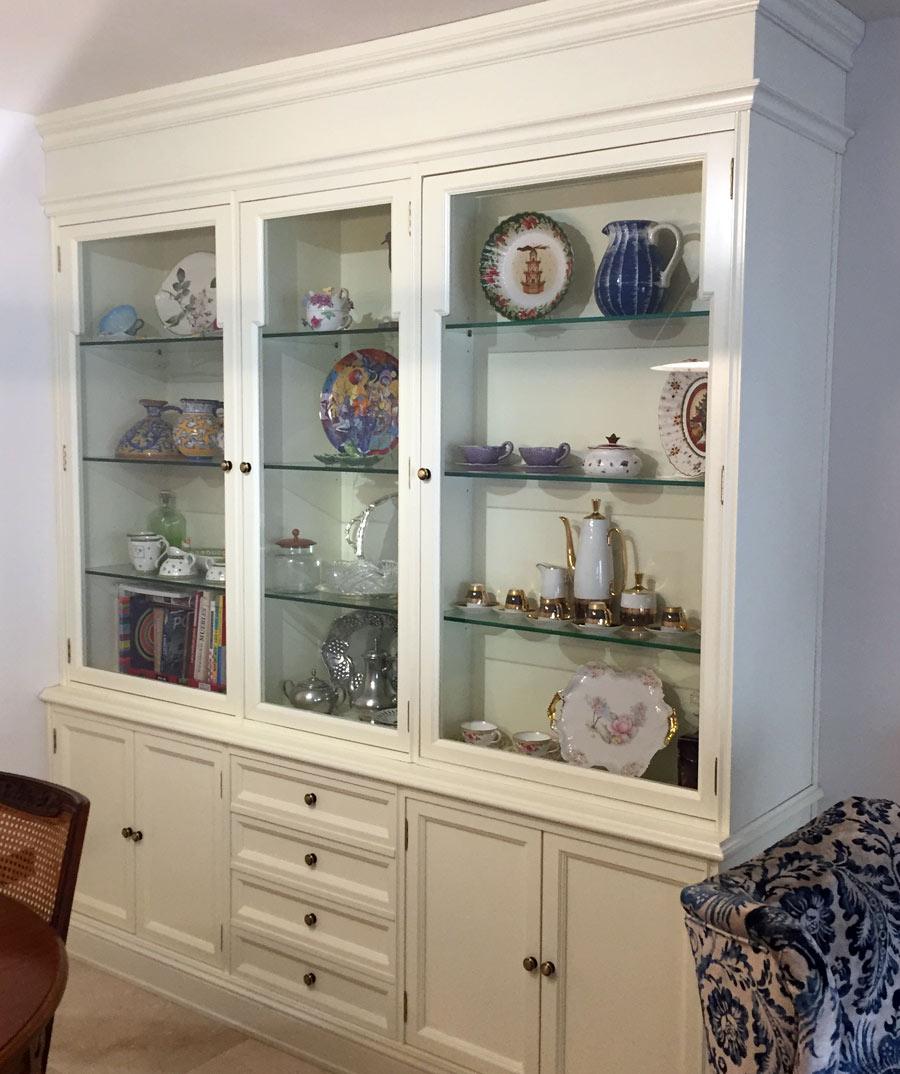 Mueble vitrina blanco muebles arribas for Mueble vitrina