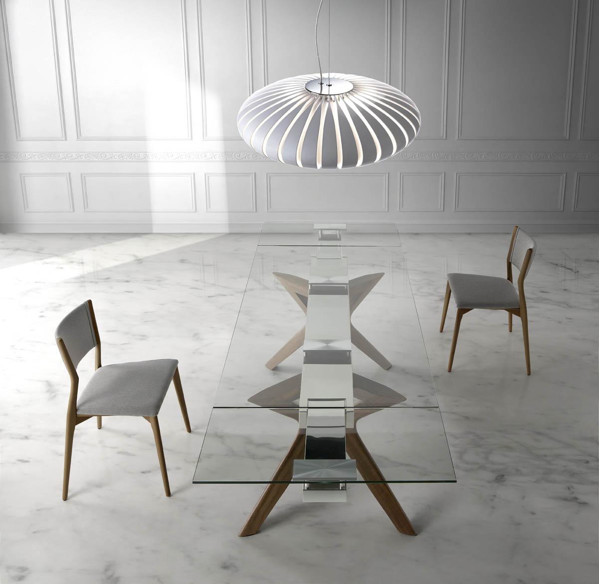 Mesa con tapa de cristal templado muebles arribas for Mesa cristal templado