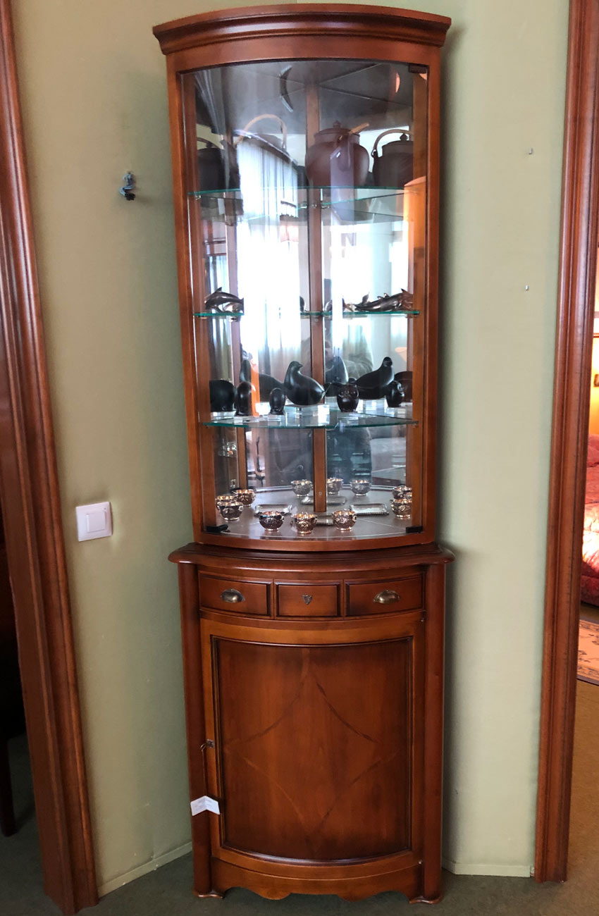 Mueble rinconera puerta cristal muebles arribas - Mueble rinconera ...